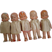 Set of 5 Dionne Quint Type Dolls