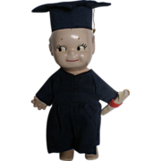 "7"" Ceramic Male Kewpie Graduation Doll"