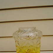 Wonderful Graduated Yellow to Clear Glass Lamp Shade