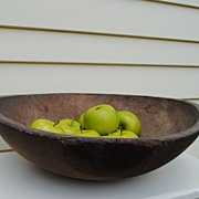 Wonderful Out-Of-Round 19th c. Wooden Farmhouse Bowl