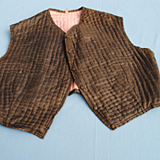 19th c. Man's Quilted Silk Vest