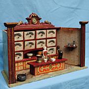 Circa 1890-1900 German Manufactured Miniature Grocery Store