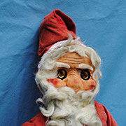 Vintage, Early 20th c. Santa With Electric Light Eyes...Ho Ho Ho