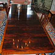 Flame Crotch Mahogany Stickley Dining/Conference Table...3 Leaves