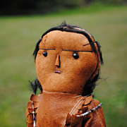 American Indian Doll...Deer Hide...Sculpted Features