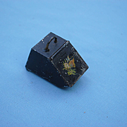 19th c. Dollhouse Coal Scuttle....With Coal!