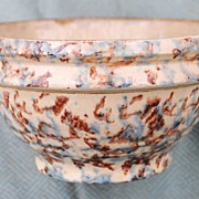 Red Wing Pottery Spongeware Bowl...Pretty Blue and Brown