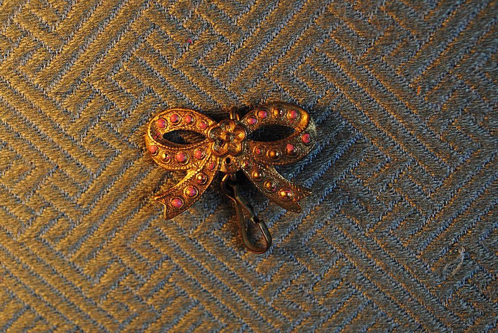 Circa 1870 French Fashion Bow Pin
