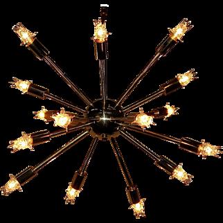 Mid Century 16 Light Brass Sputnik Fixture