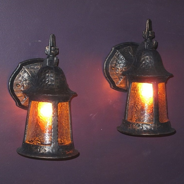 Pair Vintage Porch Lights