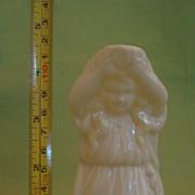 Delicate Vintage Belleek Porcelain Figural Maiden Pitcher