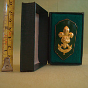 Vintage Boy Scout Thailand Scoutmaster Plume/Hat Badge