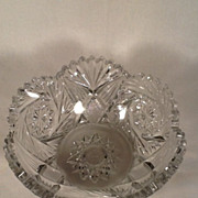Heisey crystal color Pineapple & Fan (aka1255) bowl