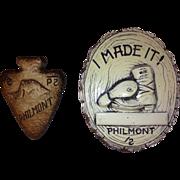 1950's  Philmont Ceramic Plaque and Slide