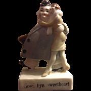 Schafer & Vater Comical German Good bye Sweetheart Figurine or Figure