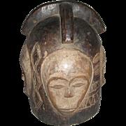 REDUCED African  Helmet Mask Fang Tribe Gabon