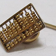14 K  Gold  Abacus Tie Tack