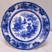 Antique English Flo- Blue Plate