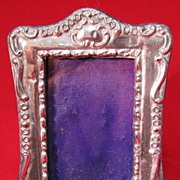 SALE Petite Antique Victorian Sterling Photo Frame