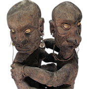 REDUCED Erotic Pacific Region Wood Carving