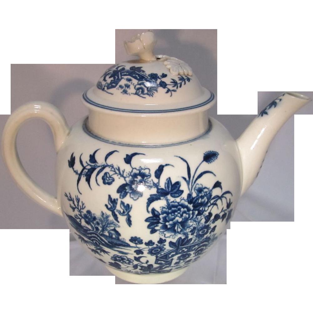 18th Century Worcester  Tea Pot