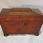 Antique Victorian English Mahogany Tea Caddy
