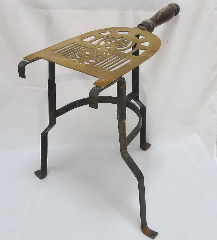 Antique Brass & Iron Fireplace Trivet