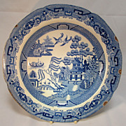 SALE English Blue Willow Plate