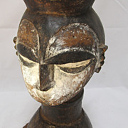 REDUCED African Igbo [ Nigeria ) Carved Wooden Tribal Head