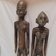 African Couple  Wood Ivory Coast