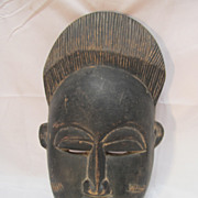 Old African Mask Ivory Coast Wood