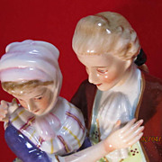 SALE Japanese Porcelain Figurine Courting Couple