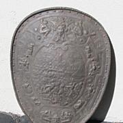 SALE Antique Iron Shield Plaque