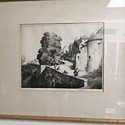 English Martin Hardie Drypoint