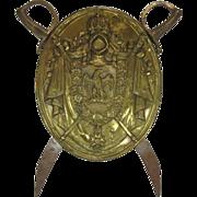 SALE Antique Shield Brass Napoleon III Paris