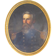 REDUCED Oil on Canvas of a Military Officer by Eliphalet  F Andrews
