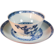 """Chinese """"  The Nanking Cargo """" Porcelain Cup & Saucer"""