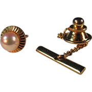 Pearl & 14K gold filled Tie Tack