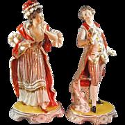 REDUCED Elegant Marie & Louis Porcelain Figures