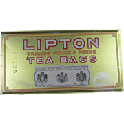 Lipton Tea Tin
