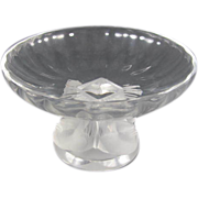 """REDUCED Crystal Compote Lalique  : Nogent """""""