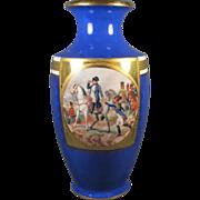 Tall Napoleon Porcelain German Vase