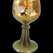 Gilt Cut Glass Wine Hock