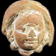 Ancient Greek Tanagra Head