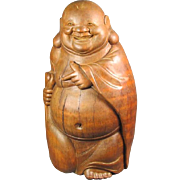 Old Chinese Bamboo Budai Hotei