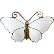 Vintage Sterling and Enamel Norwegian Butterfly by OPRO