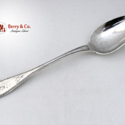 Beaded Tipped Stuffing Spoon Coin Silver W. Gale And Son 1856