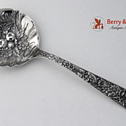 SALE Large Berry Spoon Repousse Sterling Silver Kirk and Son