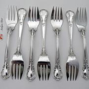 Chantilly Set of 7 Salad Forks Gorham sterling Silver 1895