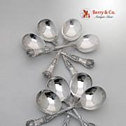 King George 8 Gumbo Soup Spoons Sterling Silver Sterling Silver 1894